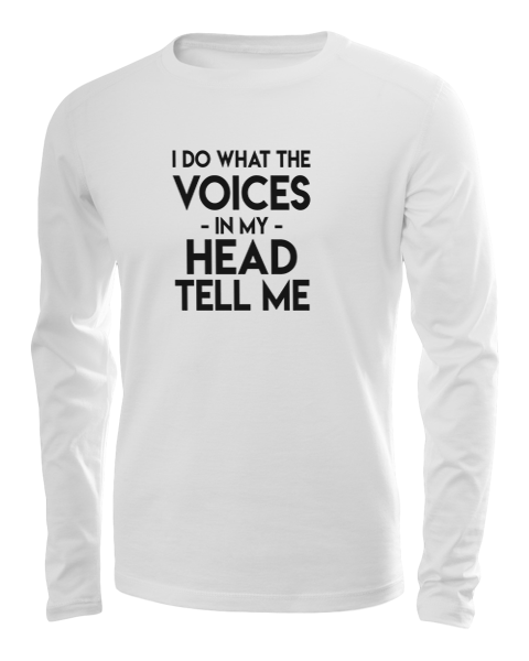 the voices long sleeve white