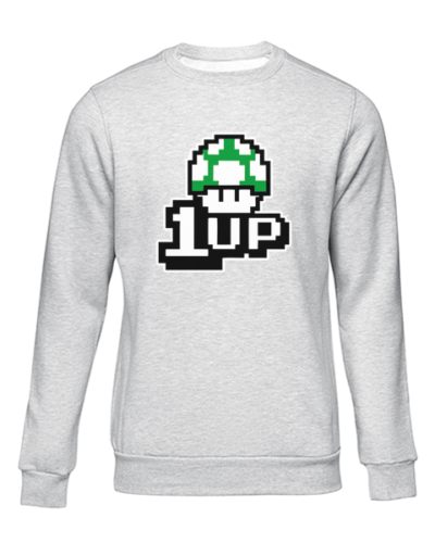 1up grey sweater