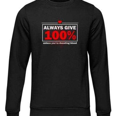always give 100 black sweater