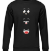 anime faces black sweater