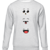 anime faces grey sweater