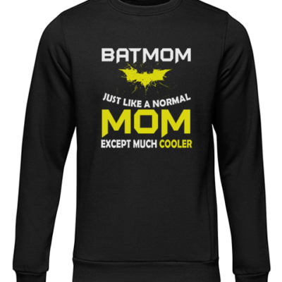 batmom black sweater