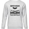 batmom grey sweater