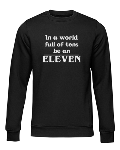 be an eleven black sweater