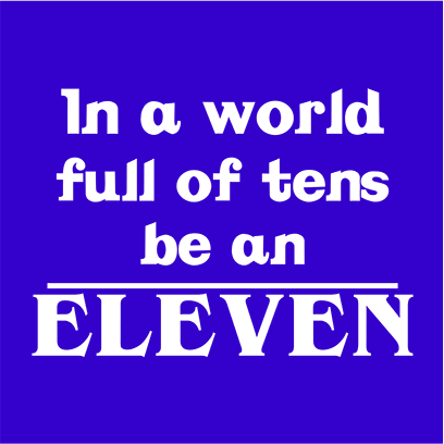 be an eleven blue square