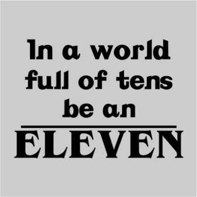 be an eleven grey square