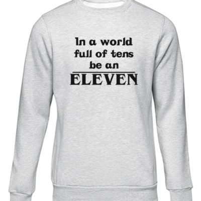 be an eleven grey sweater