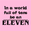 be an eleven pink square