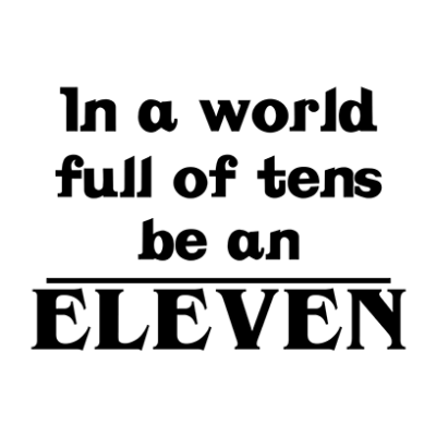 be an eleven white square