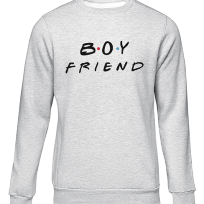 boyfriend grey sweater