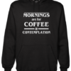 coffee and contemplation Black Hoodie jb