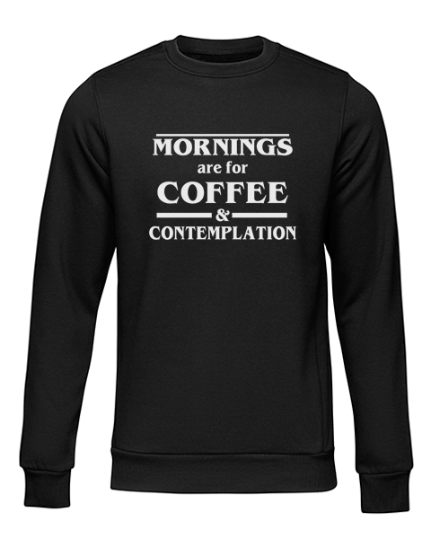coffee and contemplation black sweater
