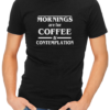 coffee and contemplation mens tshirt black