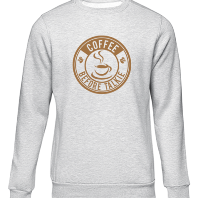 coffee before talkie grey sweater