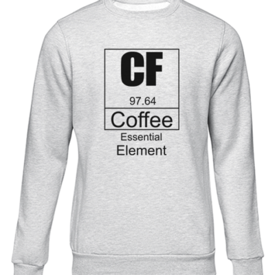 coffee essential element grey sweater