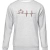 coffee heartbeat grey sweater