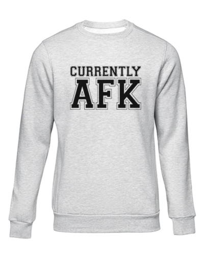 currently afk grey sweater