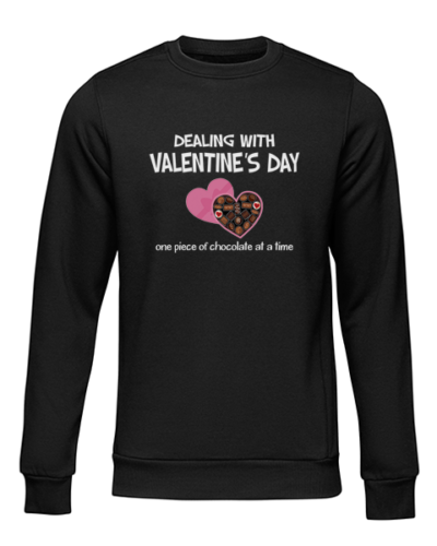 dealing with valentines black sweater