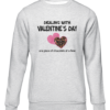 dealing with valentines grey sweater
