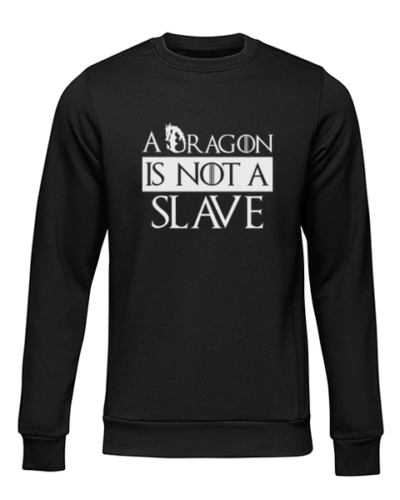 dragon is not a slave black sweater