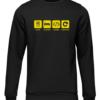 eat sleep code repeat black sweater