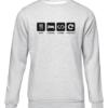 eat sleep code repeat grey sweater