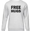 free hugs grey sweater