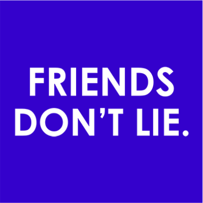 friends dont lie blue square
