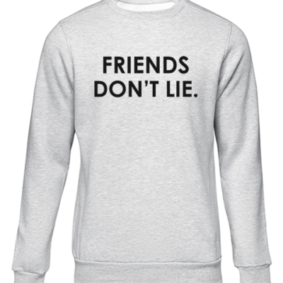 friends dont lie grey sweater