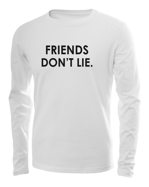 friends dont lie long sleeve white