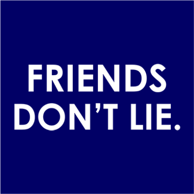 friends dont lie navy square