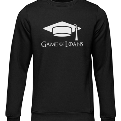 game of loans black sweater