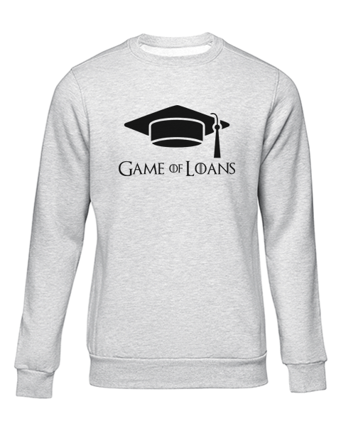 game of loans grey sweater