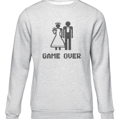 game over grey sweater