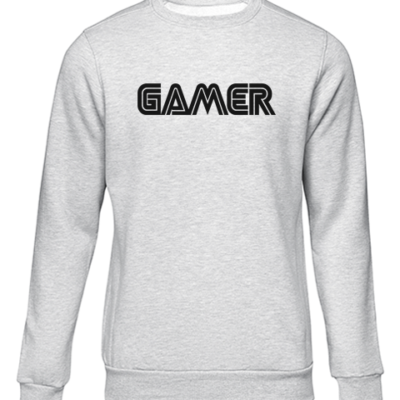 gamer grey sweater