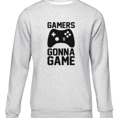 gamers gonna game grey sweater