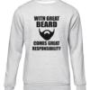 great beard grey sweater