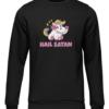 hail satan unicorn black sweater