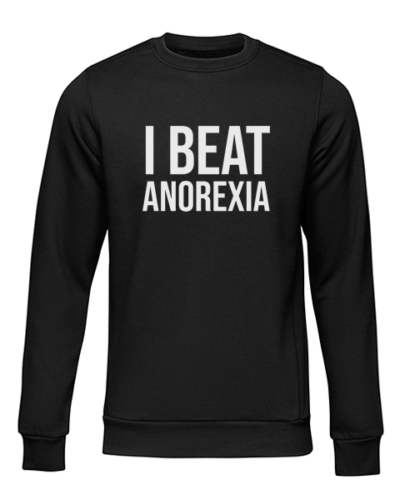i beat anorexia black sweater