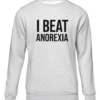 i beat anorexia grey sweater