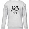 im with stupid grey sweater