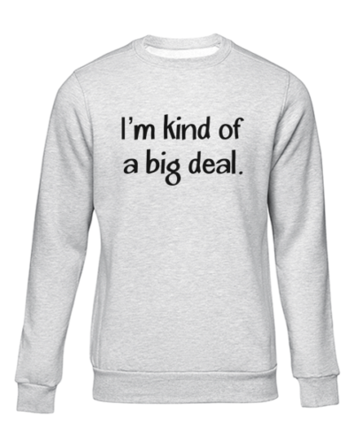 kind of a big deal grey sweater