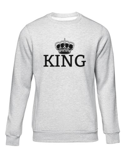 king grey sweater