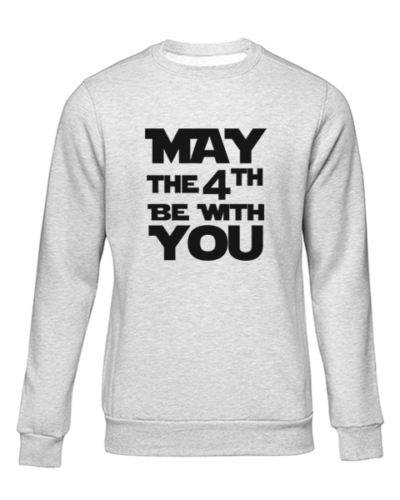 may the 4th grey sweater