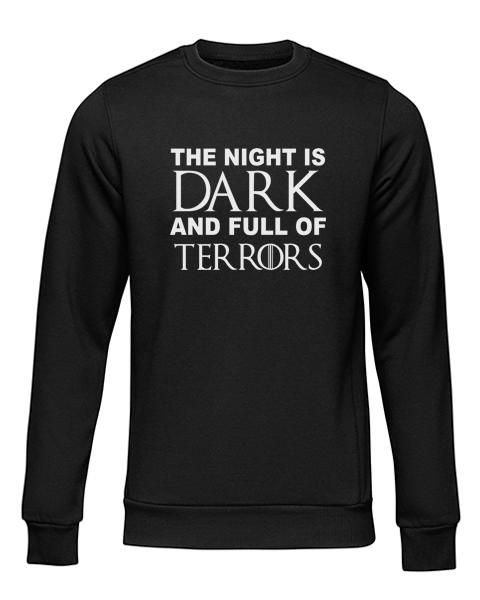 night is dark black sweater