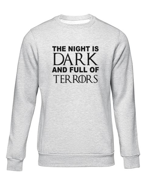 night is dark grey sweater