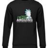 not arguing black sweater