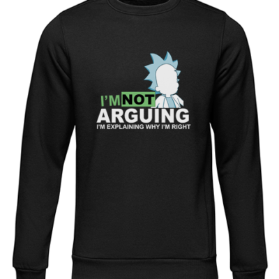 not arguing black sweater