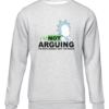 not arguing grey sweater
