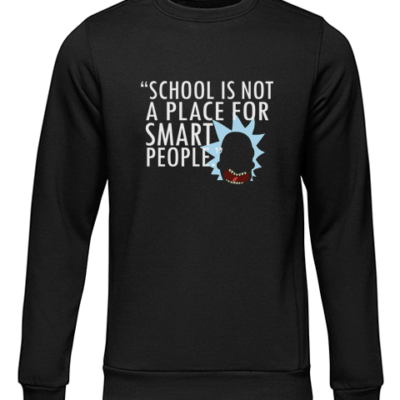 not for smart people black sweater